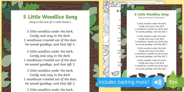 5 Little Woodlice Song - minibeasts, bugs, soil, beetles, creatures
