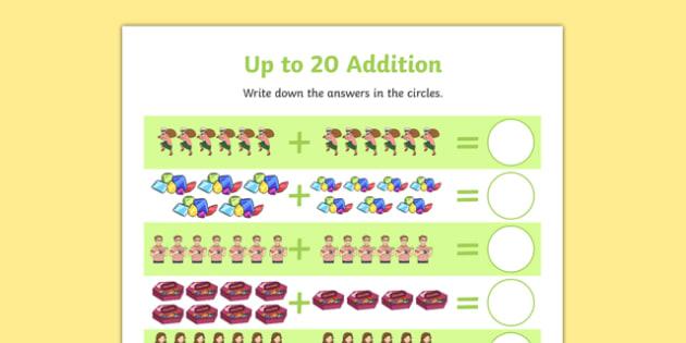 Criminal Granny up to 20 Addition Sheet - 20, addition,+,adition,additio,additon,+,+, david, walliams, literacy, numeracy, cross curricular, calculation, number