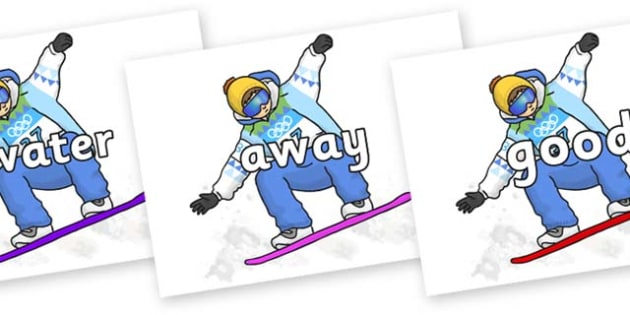 Next 200 Common Words on Snowboarding - Next 200 Common Words on  - DfES Letters and Sounds, Letters and Sounds, Letters and sounds words, Common words, 200 common words