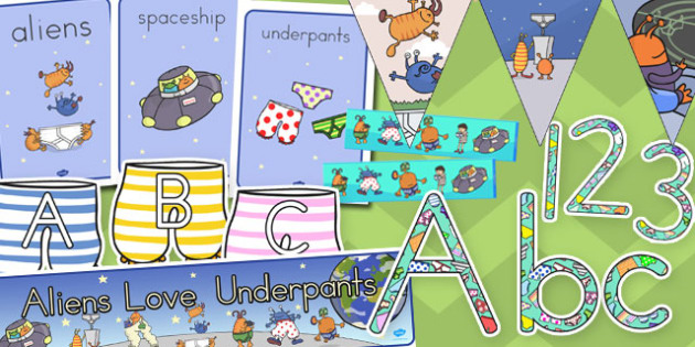Classroom Display Pack to Support Teaching on Aliens Love Underpants - australia, aliens, underpants