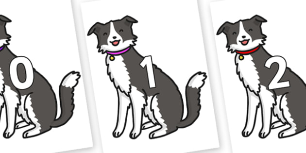 Numbers 0-100 on Dog - 0-100, foundation stage numeracy, Number recognition, Number flashcards, counting, number frieze, Display numbers, number posters