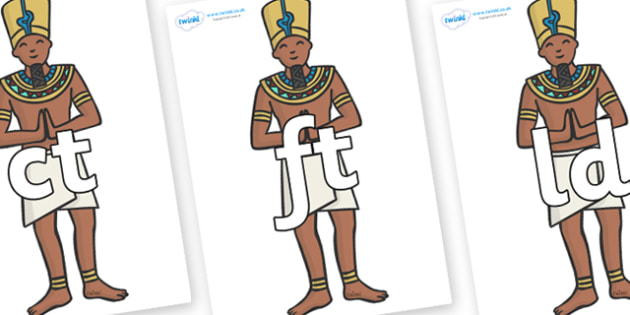 Final Letter Blends on Egyptian Priests - Final Letters, final letter, letter blend, letter blends, consonant, consonants, digraph, trigraph, literacy, alphabet, letters, foundation stage literacy