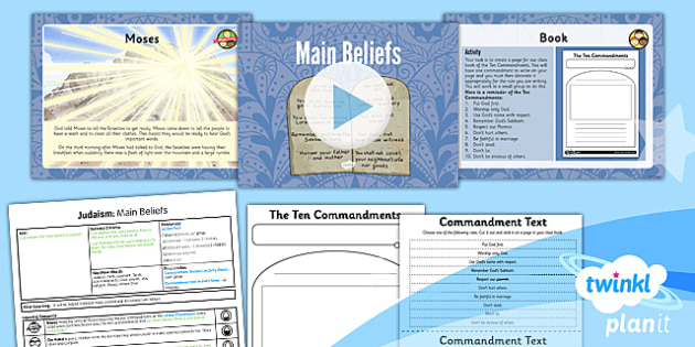 RE: Judaism: Main Beliefs Year 3 Lesson Pack 2