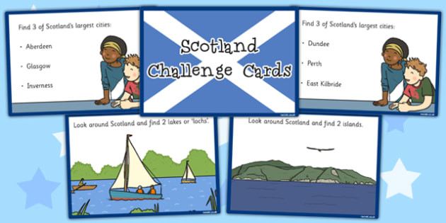 Our Country Scotland Challenge Cards - challenge, cards, country