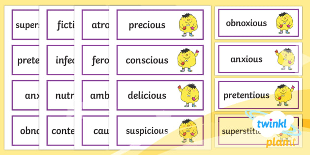 PlanIt English Additional Resources Year 5 Term 1A Word Cards - Spellings Year 5, Y5, spellings, spellings, cards, display, flashcards, Year 5, GPS, SPaG