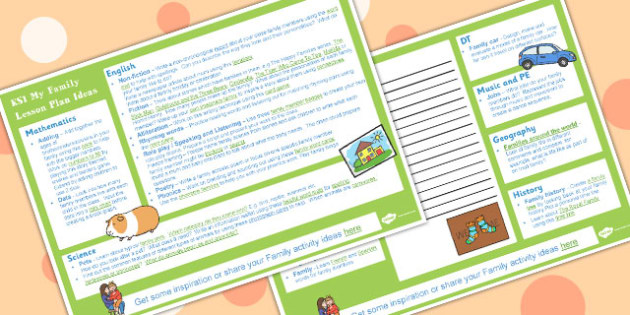 My Family KS1 Lesson Plan Ideas - Family, Lesson, Plan, Ideas