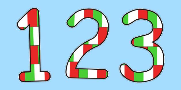 Italian Display Numbers Flags - italian, display, numbers, flags