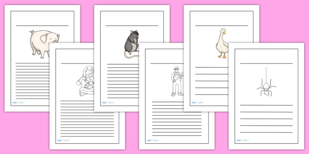 Charlotte's Web Writing Frames - writing template, writing aid