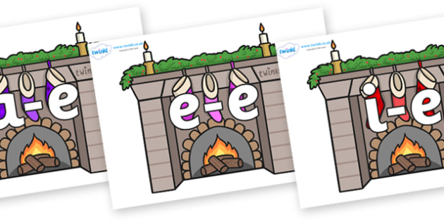 Modifying E Letters on Fireplaces - Modifying E, letters, modify, Phase 5, Phase five, alternative spellings for phonemes, DfES letters and Sounds