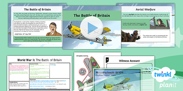 History: World War II: The Battle of Britain LKS2 Lesson Pack 4