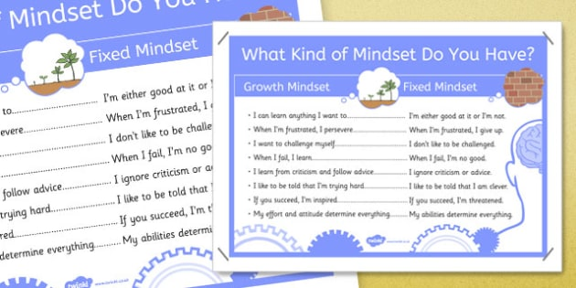 What Kind of Mindset Do You Have? Poster - Growth, fixed, display, learning, learner, improve