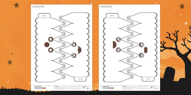 Enkl Simple 3D Halloween Ghost Printables - enkle, printable, model, paper model, paper, craft, activity, 3d, halloween, ghost