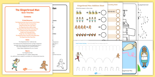 The Gingerbread Man Quiet Time Box - The Gingerbread Man, Traditional Tales, ginger, childminding, child minder