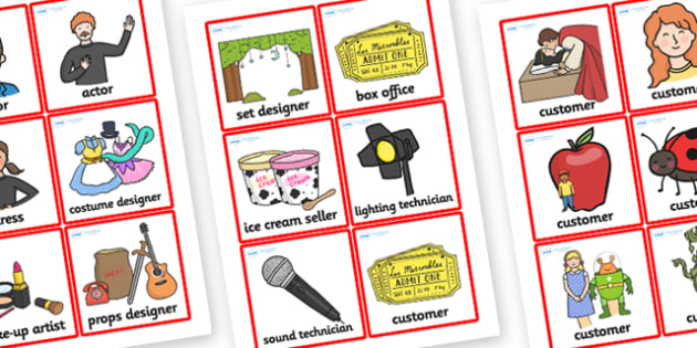 The Theatre Role Play Badges - theatre, role play, badges, role, play, theatre badges, role play badges, theatre role play, badges for theatre