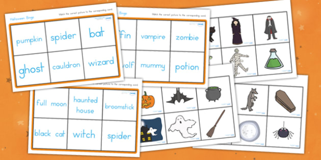 Halloween Bingo - halloween, halloween bingo, halloween lotto, halloween activities, halloween games, fun games, group games, whole class activities, fun