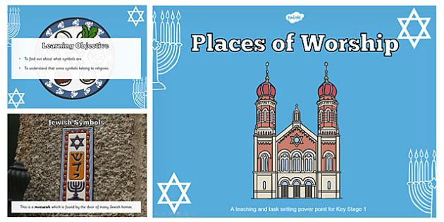 Jewish Symbols Teaching and Task Setting PowerPoint - jewish, jew