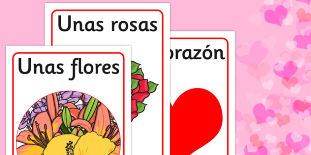 Valentine's Day Display Posters Spanish - spanish, valentines, day, display, poster
