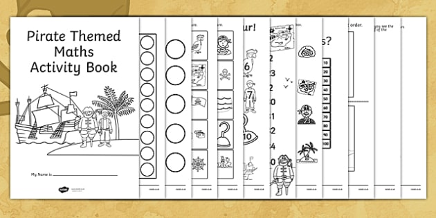 Pirate Themed Maths Activity Book - pirate, maths, activity, book