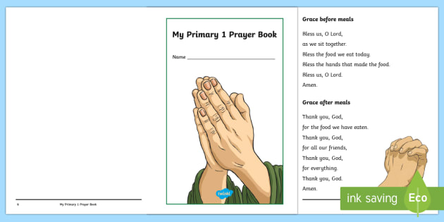 My Primary 1 Prayer Book - CfE, Catholic, Christianity, prayers, mass responses ,Scottish