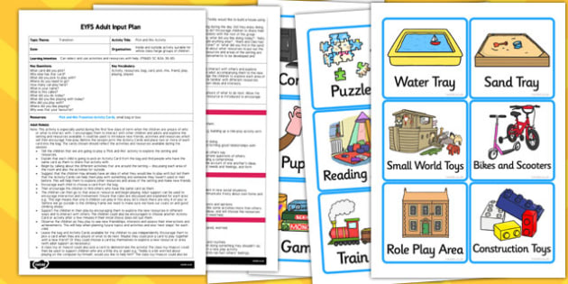 Pick and Mix Activity EYFS Adult Input Plan and Resource Pack
