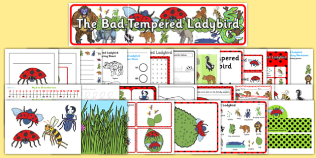 Resource Pack to Support Teaching on The Bad Tempered Ladybird - story books, stories