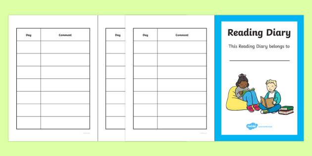 Reading Diary - Reading Record Booklet - Reading record, record book, reading booklet, reading, literacy, read, parent, reading books