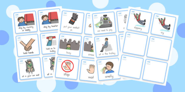 Special Needs Communication Cards Out and About Boy - cards, boys