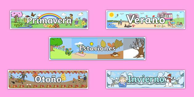 Four Seasons Display Banners Spanish-Spanish