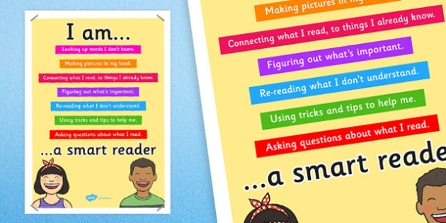 Smart Reader Poster - smart reader, reading, display poster, poster for display, classrooom posters, classroom display, reading display, books, literacy