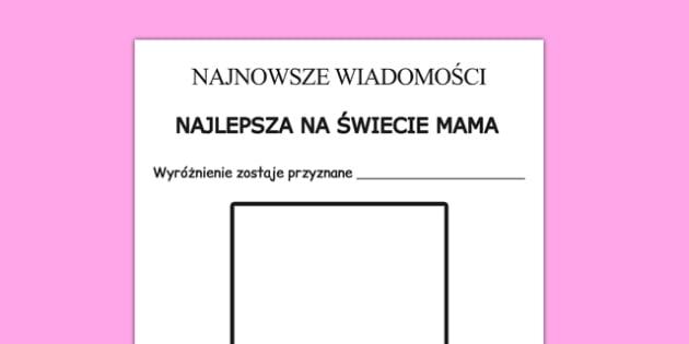 Karta Najlepsza Mama na świecie