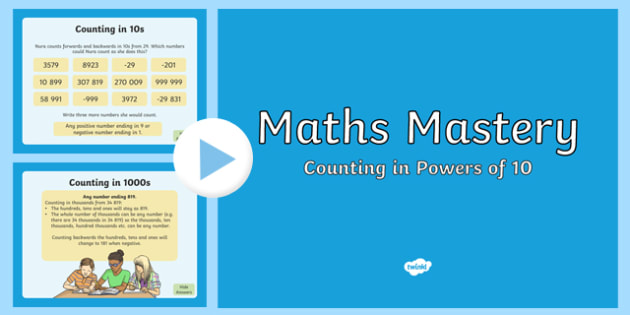Year 5 Number and Place Value Counting in Powers of Ten Maths Mastery PowerPoint