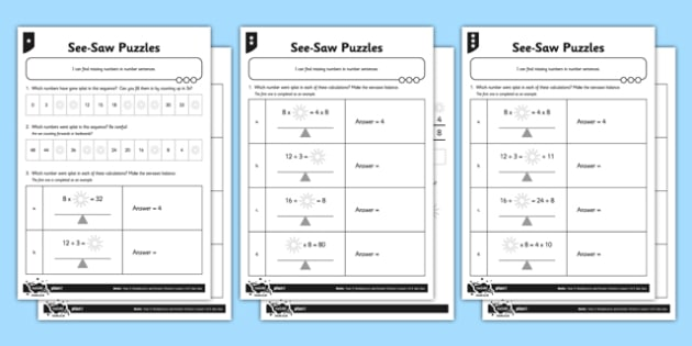 Differentiated Missing Number Puzzles 3, 4 and 8x Table Activity Sheet Pack, worksheet