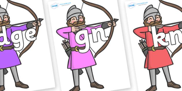 Silent Letters on Archers - Silent Letters, silent letter, letter blend, consonant, consonants, digraph, trigraph, A-Z letters, literacy, alphabet, letters, alternative sounds