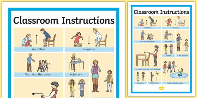 Classroom Instructions Word Grid
