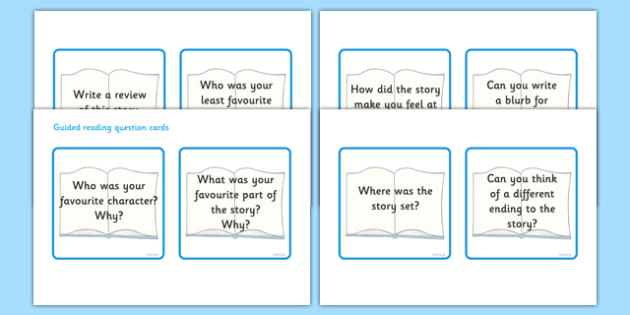 Guided Reading Question Cards - guided reading question cards, question, cards, guided reading, reading, guiding, help, aid, read, flashcard