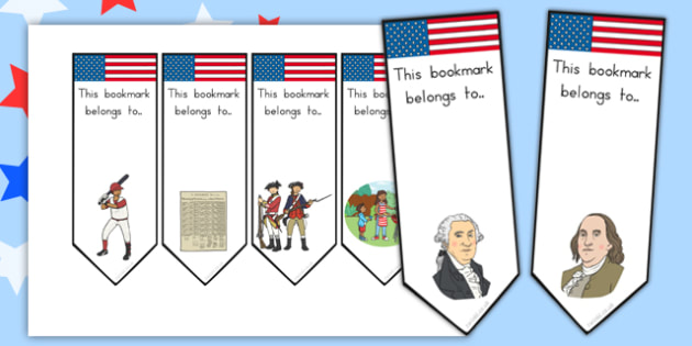 Independence Day Bookmarks - independence day, bookmarks, book
