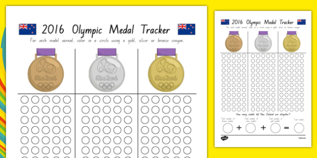 New Zealand Olympic Medal Count and Add Activity Sheet - olympic medal, count, add, activity,adjacent consonants,olympica, medals, awards, maths, record, new zealand, all blacks, rio 2016, gold, silver, bronze, worksheet