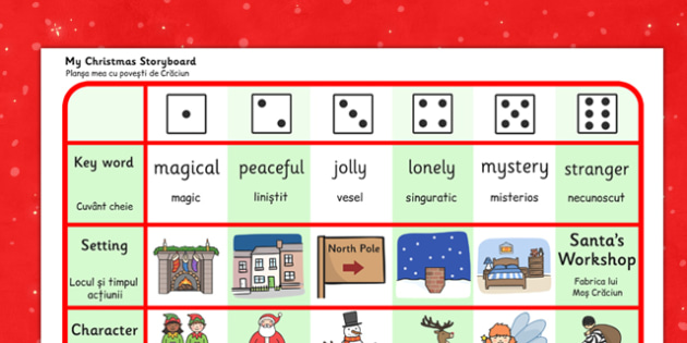 Christmas Story Writing Activity Romanian Translation - romanian, christmas, story, writing, activity