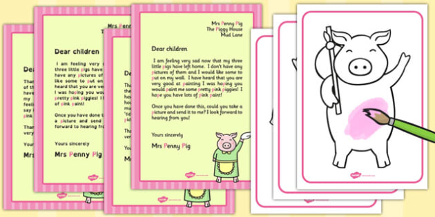 Three Little Pigs Paint Mixing Activity Pack - mixing, activity