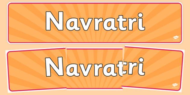 Navratri Display Banner - navaratri, display banner, display, banner