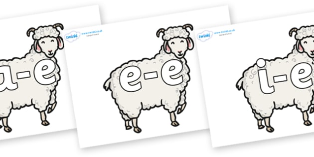 Modifying E Letters on Small Billy Goats - Modifying E, letters, modify, Phase 5, Phase five, alternative spellings for phonemes, DfES letters and Sounds