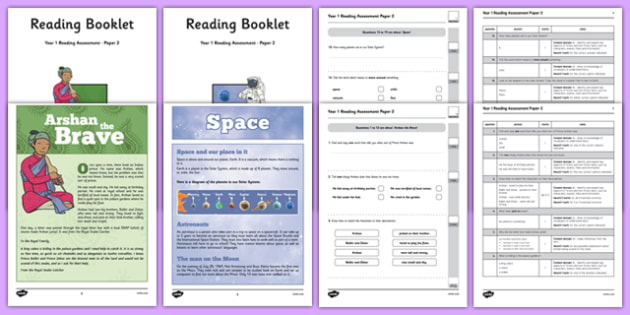 Year 1 Reading Assessment Paper 2 Term 1 - formative, summative, diagnostic, fiction, non-fiction