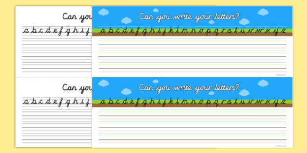 Can your Write Your Letters Ground Grass Sky Table Strips - strip