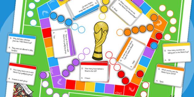 Football World Cup Brazil Trivia Board Game - sport, pe, games