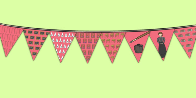 Victorian School Display Bunting - victorian school, display bunting, display, bunting, victorian, school