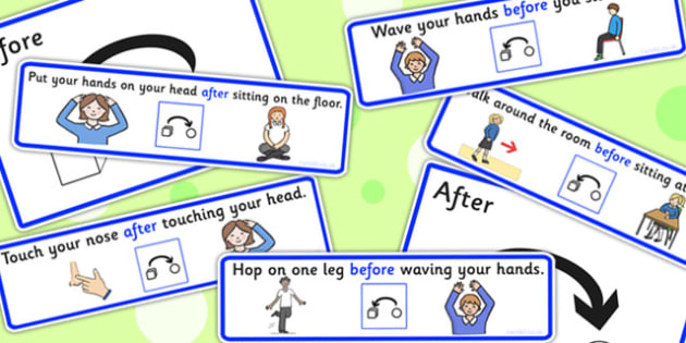 Before And After Simon Says - games, SEN games, order, sort