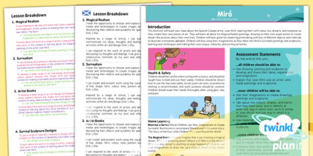 Art: Miro KS1 Planning Overview CfE