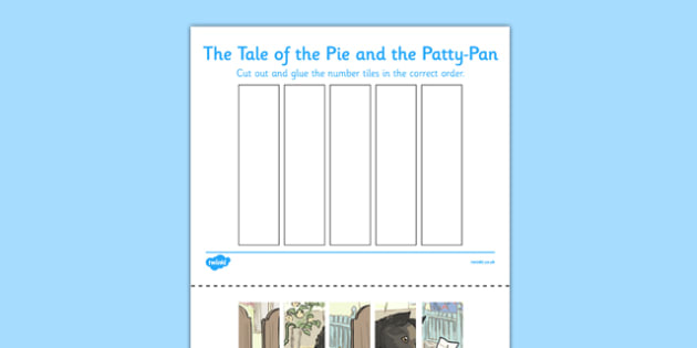Beatrix Potter - The Tale of the Pie and the Patty-Pan Number Sequencing Puzzle - beatrix potter, pie, patty pan, number sequencing puzzle