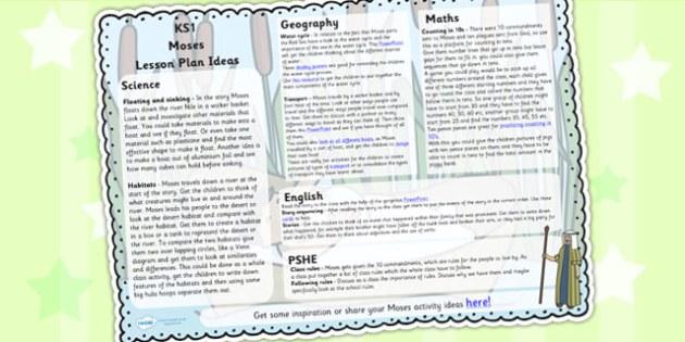 Moses Lesson Plan Ideas KS1 - moses, lesson plan, KS1, ideas