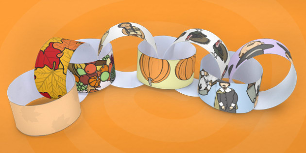 Thanksgiving Paper Chain - chains, activity, activities, paper